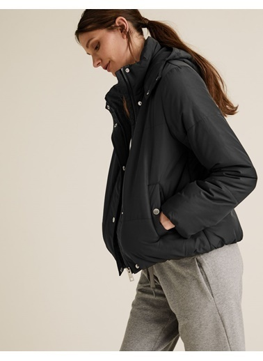 Marks & Spencer Thermowarmth™ Pufa Mont Siyah